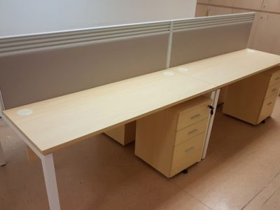 Cerebral Palsy Alliance Singapore - AL Series rect table with fabric clip on panels.