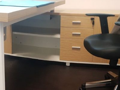 Hai Nei Contractors - BA Series Executive Desk with Side Cabinet