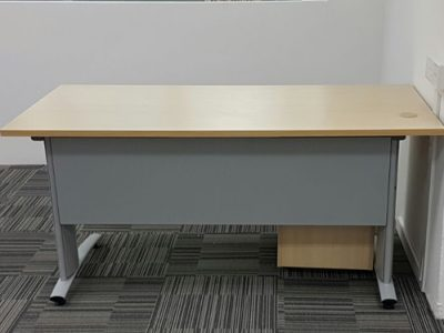 Kallang Pudding - Free-standing Desk with Curvy Series Table Legs and Modesty Panel