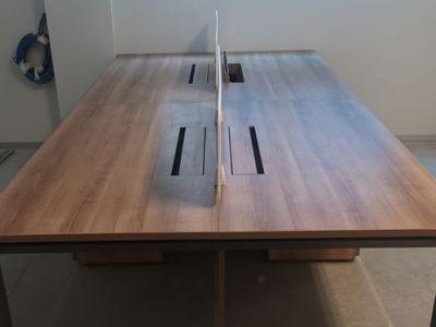 Kenyon Lvl 1 - DE Series System Furniture (Slim Acrylic Desktop Panel)