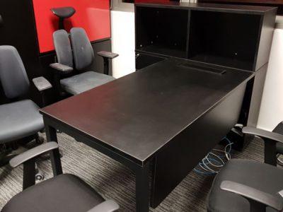 L Beauty - Al Series Director Desk with open shelf