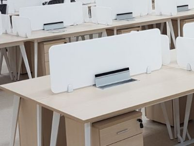 Mentor Media - BA Series Table with Customised White Acrylic Panel