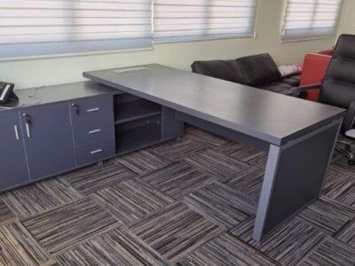 Cotas ITS - BO Series Director's Desk Grey Worktop Left Side Return