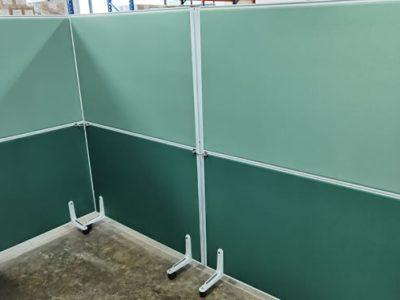 System Furniture Panel on Castor Wheels