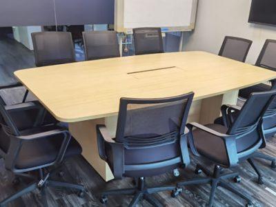 Patec Pte Ltd - Wooden Block Leg Conference Table