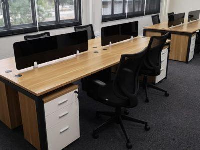 SPCI - AL Series System Furniture (Slim Acrylic Desktop Panel and matching Mobile Pedestals)