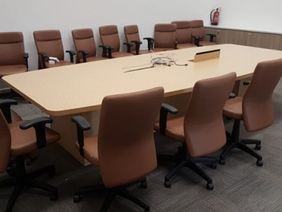 THK@Hougang - Wooden Block Leg Conference Table