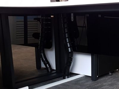 Talent Edge - Discreet Black Undertable Cable Trunking