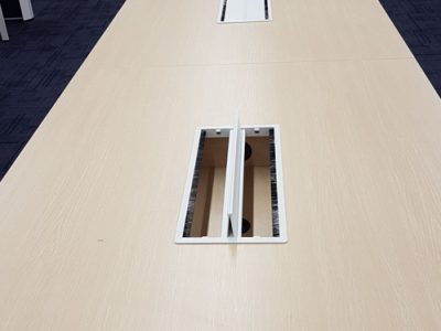 Verint - Conference Table with Built-in Cable Box