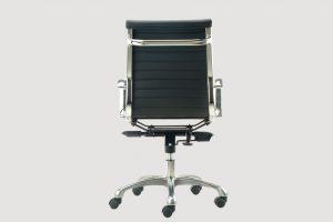 ergonomic mid back office chair chrome frame black seat chrome chair legs