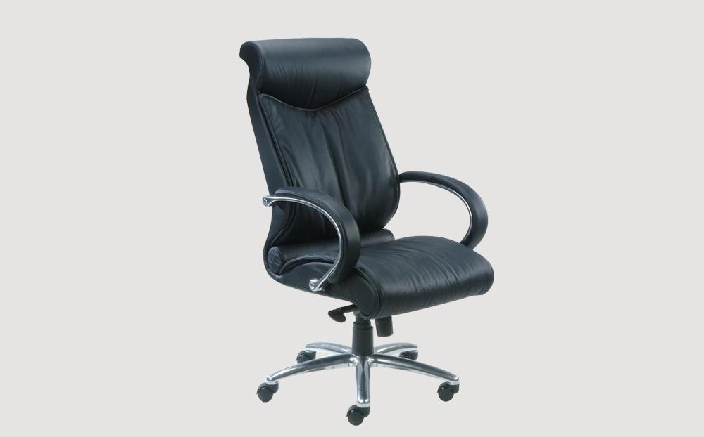 ergonomic high back office chair black leather seat chrome chair legs