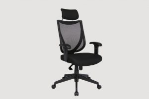 ergonomic high back office chair black frame black seat mesh back castor wheels