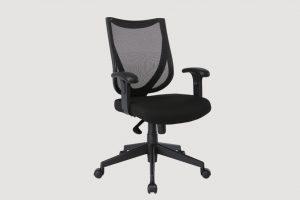ergonomic mid back office chair black frame black seat mesh back castor wheels