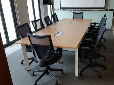 Singapore Tourism Board - DE Series Conference Table with Built-in Wirebox Box