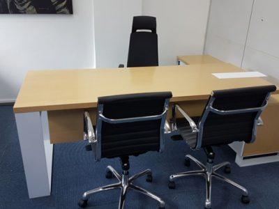 Avanti Fulfillment - S3 Series Director's Desk, A092 Office Chair in Black