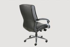 ergonomic mid back office chair black frame black seat leather castor wheels