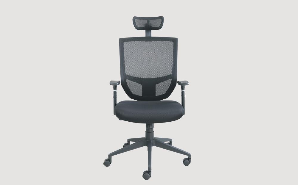 ergonomic high back office chair black frame black seat castor wheels