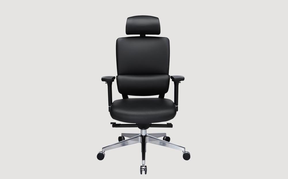 ergonomic high back office chair black frame black seat chrome legs castor wheels