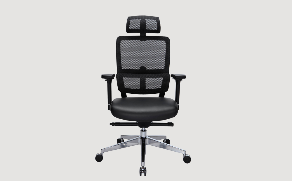 ergonomic high back office chair black frame black seat mesh back chrome legs castor wheels