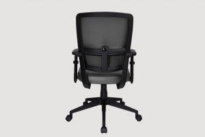 ergonomic mid back office chair black frame grey seat castor wheels