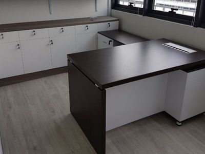 Wish Controls Pte Ltd - Nantes Director's Desk and Side Cabinet