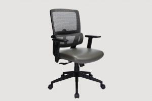 ergonomic mid back office chair black frame grey seat mesh back castor wheels
