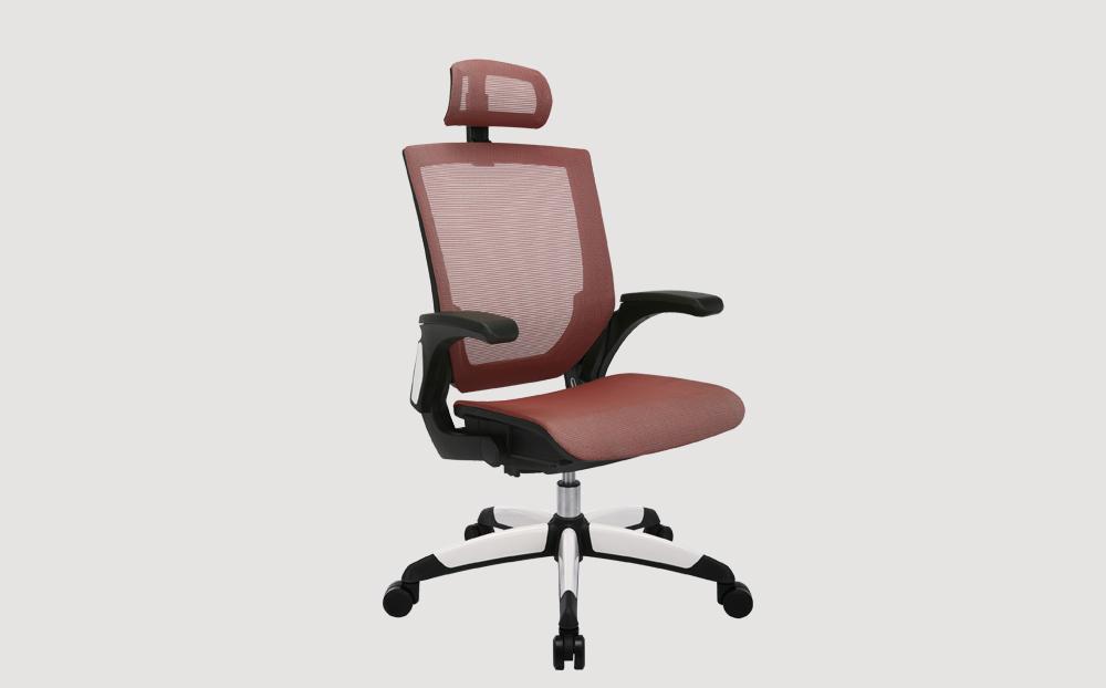 ergonomic high back office chair black frame red seat mesh back castor wheels