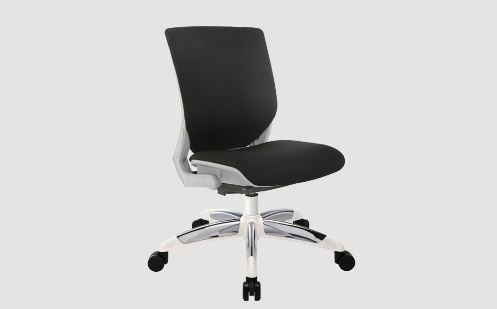 ergonomic mid back office chair grey frame black seat chrome castor wheels