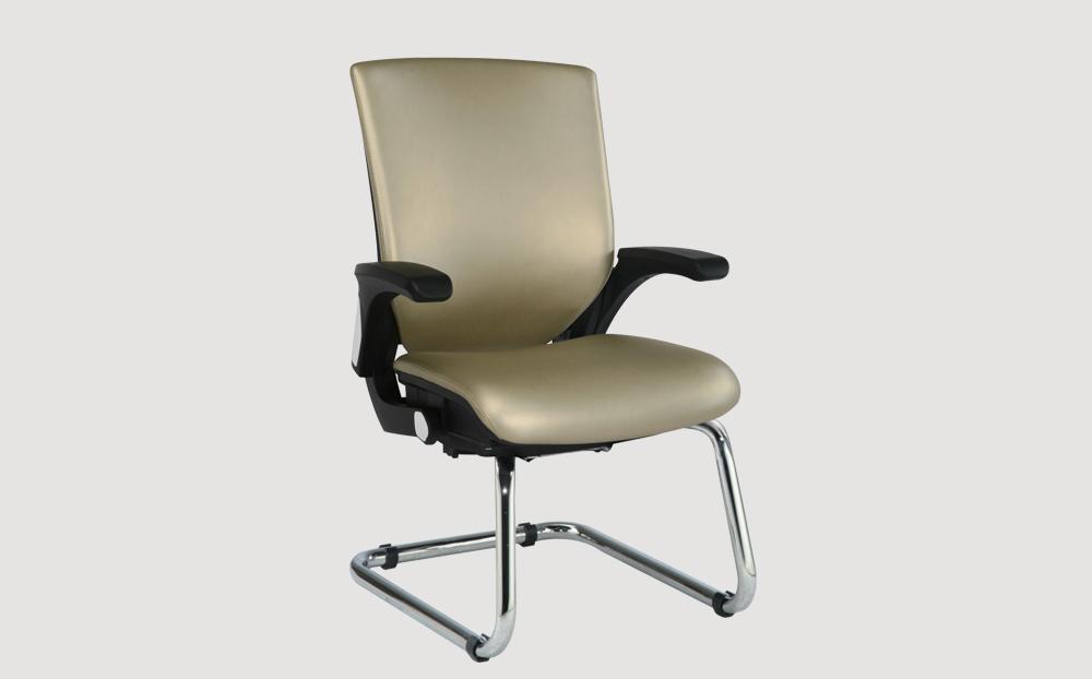 ergonomic mid back office chair black frame gold seat