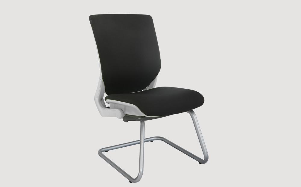 ergonomic mid back office chair grey frame black seat