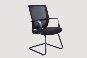 ergonomic mid back office chair mesh back black frame black seat
