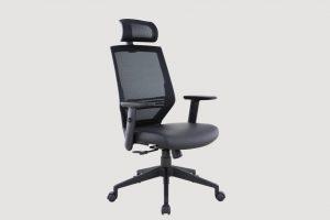 ergonomic high back office chair mesh back black frame black seat
