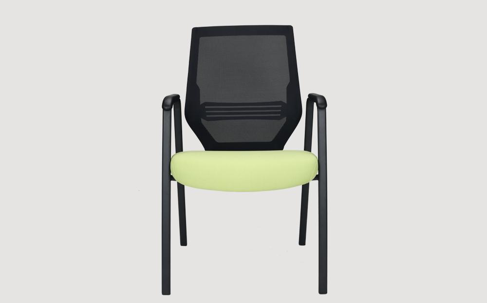 ergonomic mid back office chair mesh back black frame green seat