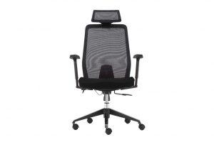 ergonomic high back office chair mesh back lumbar support black frame black seat
