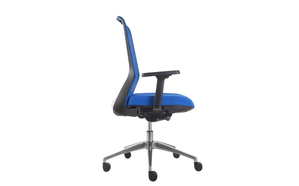 ergonomic office chair blue seat black frame