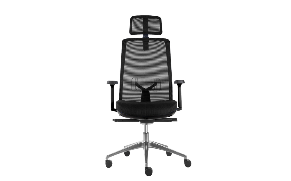 ergonomic high back office chair mesh back lumbar support black colour