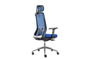 ergonomic high back office chair blue seat black frame mesh back