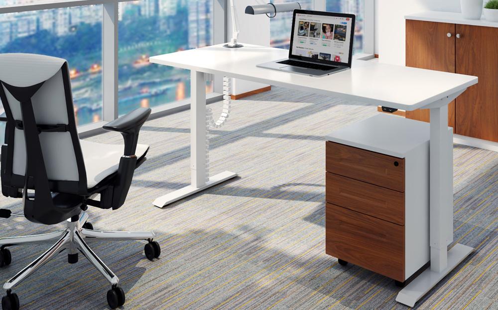 height adjustable table white colour ergolite