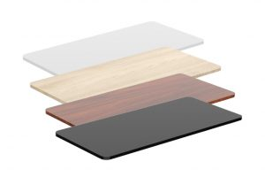 Height Adjustable Table Table Top Colours ErgoLITE