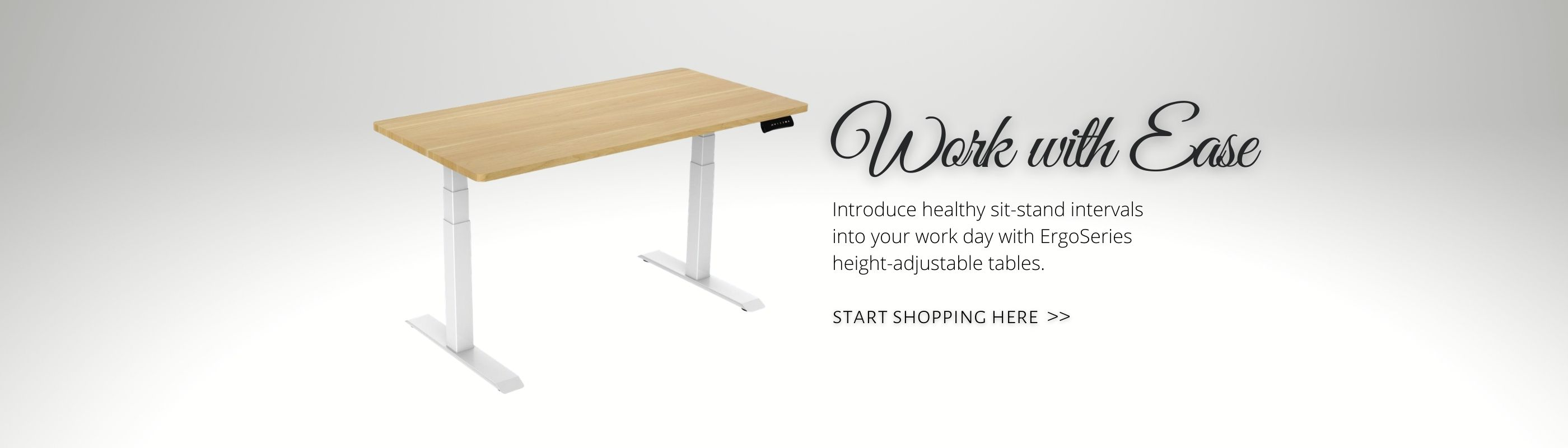 Adjustable Table with Wood Top_Offitek
