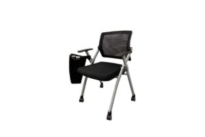 Baylor_LS-546-T1 _Black MeshBack with Writing Pad Front View-Offitek