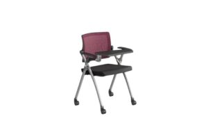 Baylor_LS-546-T1 _Red MeshBack with Writing Pad Front View-Offitek