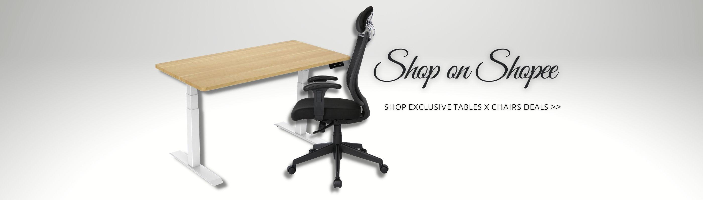 Height Adjustable Table_OfficeChair_Shopee_Offitek